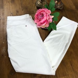 White Tommy Hilfiger Skinny Jeans